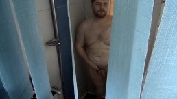 Spying On KingMarti In The Shower | Chubby Hairy Fat Bear Shower
