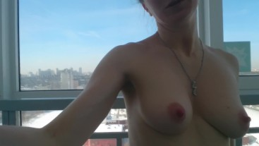 Realdaddysangel voyeur morning: flashing boobs in the street