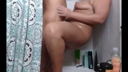 Slut latina wife helps me get off in the shower