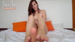 POV Footjob with Dirty Talk and Cum Countdown