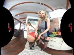 StockingsVR - Stripping lingerie & stocking blondes