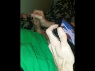 Tmnt geek masturbates to cartoon porn. hot tattooed guy.