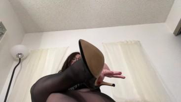 Big Tit BBW JOI In Black Pantyhose