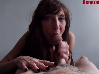Sexy MILF Marie BJ Big Cumshot She Swallowed Kept Sucking