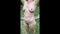 Amateur Wife Nude Beach Hike and River Crossing