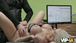 VIP4K. Delicate blonde lassie copulates with stranger for cash