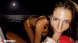 Sexo na praia à noite em Cancun - MySweetApple