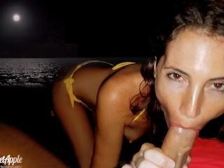 Sex on the beach at night in Cancun - MySweetApple