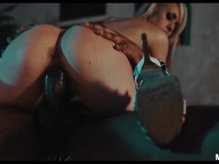 Huge BBC fucks hard spank and bang for blonde streaper exgirlfriend