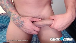 Gustavo Lovely on Flirt4Free - Tatted Latino Shows Off Muscles & Uncut Cock