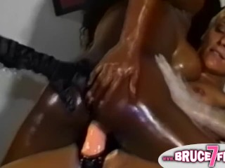 3 Hardcore Lesbians in Brutal Hot Domination Play