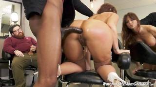 Busty MILF Syren DeMer Enjoys Anal Gangbang And DP With Big Black Cock