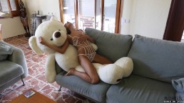 Talia Mint interview and teddy bear sex on camera for Plushies TV