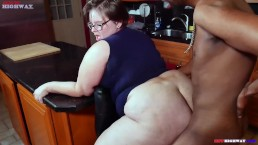 bbw pawg wife Lily Cassanova cheats on hubby with big black cock