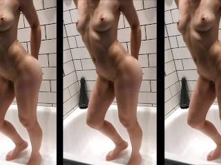 Lilimini - Je joue avec mon cul dans la douche