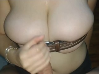 Belted tits Tittyfuck - Just see how those tits pop out naturally