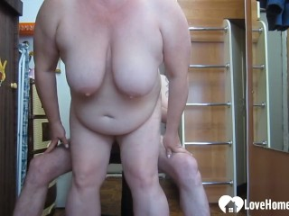 GILF likes to choke on my huge dick