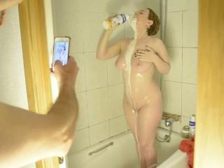 My shower with milk .... ummmmmm