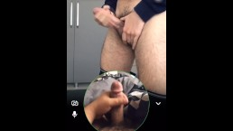 Snapchat jerk session... big cumshot
