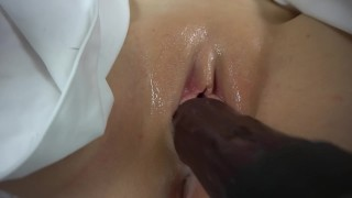 Close Up Pussy Fucking with Bad Dragon and Sex Machine