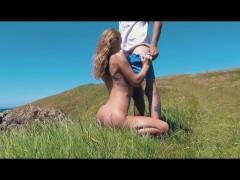 ASS DRIVER XXX - Galicia with Sasha Bikeyeva. Awesome Nudist Girl Blowjob