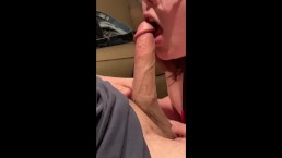 Wife gives sloppy blow job