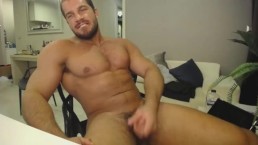 Brock Jacobs Performs Live In front Of Webcam Exposing His Huge Cock