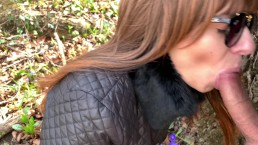 Sucking Cock Outdoor! Forest blowjob ! 4k ultra HD