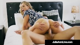 Step Mother Julia Ann Mouth Fucks Step Son's Cock!