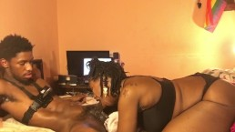 Empress Squirt Real Sloppy DeepThroat!! Giving The King Teezy Sloppy Head!!