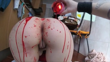Red candle wax , screams & pussy farts