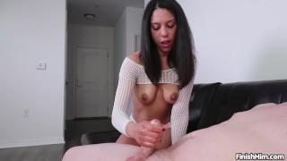 DAMN - Incredible Amber Skye Handjob