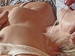 Small MILF mouth fuck, blowjob pearl necklace big cum load squirming orgasm