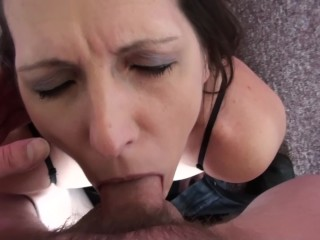 Marie Madison Worships Cock and Cums For Real While Deep Throating