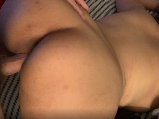 POV Doggy Latina's Dripping Pussy, Eats Cum from Big, Thick Dick