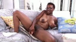 Nadyia Foxxx fucks her pussy until she's dripping wet