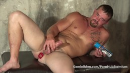 BEEFY UNCUT TRAILER TRASH STUFFS ASS TIL HE CUMS!!