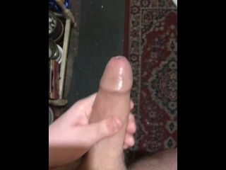 Jerking my thick cock with some moans