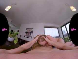 18VR.com Busty Wife Liza Billberry Serves Her Pussy For Dinner