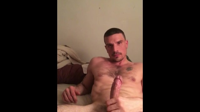 Gay ass pumping - Late night stroke sess with this daddy jock: watch me pump my load out