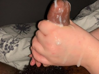 Hand job massive Cumshot: his cock drooled like imbecile as jerk him. P2