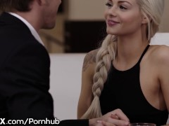 EroticaX Teen Elsa Jean Gives Euro Daddy Proper Pussy G'bye Gift