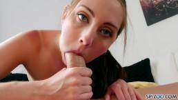 Bubble Butt Teen loves Cum in her Mouth (Nickey Huntsman) - FirstClassPOV