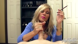 Erotic Nikki - Smoking MILF Gives Edging, POV Handjob and Ruins Orgasm
