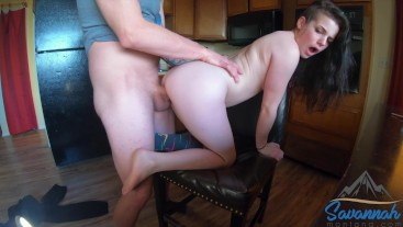 high school girl fucked in the kitchen before school