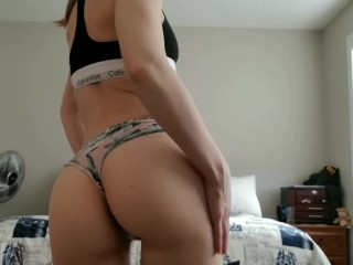 Little Slut likes to Tease, Strips to Bare Ass