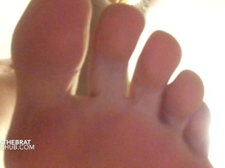 mistress trample and foot licking POV slave femdom