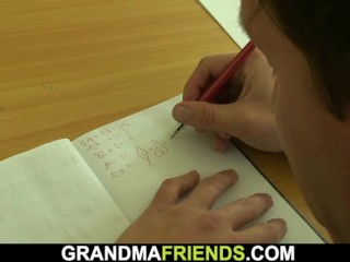 Boys teen fuck old blonde mature teacher