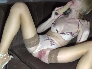 ENJOYING DOUBLE DILDOS IN MY PUSSY...