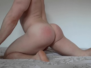 Naughty college guy show off perfect ass on webcam